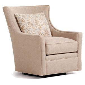 Jessica Charles Fine Upholstered Accents Delta Swivel Chair