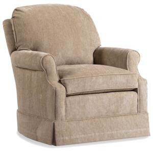 Jessica Charles Fine Upholstered Accents Ashley Swivel Rocker