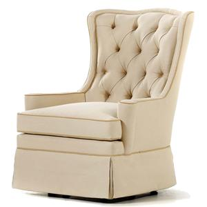 Jessica Charles Fine Upholstered Accents Libby Swivel Rocker