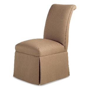 Jessica Charles Fine Upholstered Accents Sebastian Skirted Armless Chair