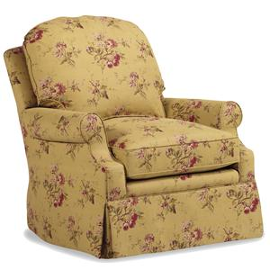 Jessica Charles Fine Upholstered Accents Ashton Swivel Rocker