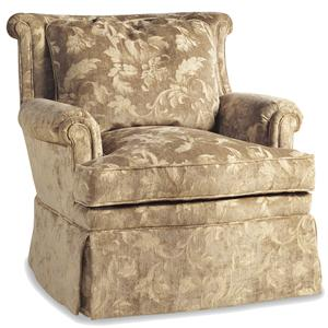 Jessica Charles Fine Upholstered Accents Sultan Swivel Rocker