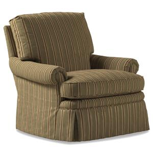 Jessica Charles Fine Upholstered Accents Hathaway Swivel Rocker