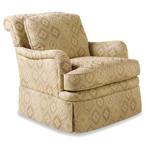 Jessica Charles Fine Upholstered Accents Manor Swivel Rocker