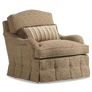 Jessica Charles Fine Upholstered Accents Pierce Swivel Rocker