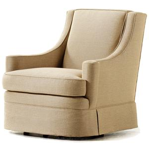 Jessica Charles Fine Upholstered Accents Jackie Swivel Rocker