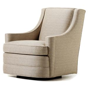 Jessica Charles Fine Upholstered Accents Perry Swivel Chair