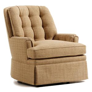 Jessica Charles Fine Upholstered Accents Ted Swivel Rocker