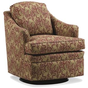 Jessica Charles Fine Upholstered Accents Damon Swivel Rocker