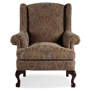 Jessica Charles Fine Upholstered Accents Croft Ball and Claw Wing Chair