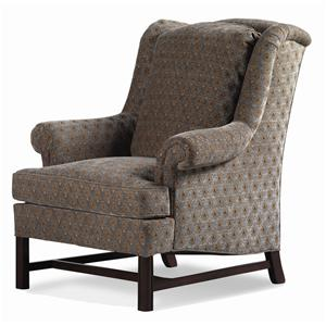 Jessica Charles Fine Upholstered Accents Alexander Chippendale Wing Chair
