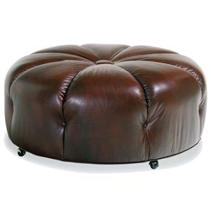 Jessica Charles Fine Upholstered Accents Round Cocktail Ottoman