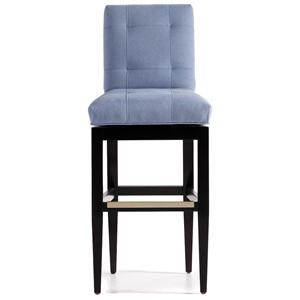 Jessica Charles Fine Upholstered Accents Mann Tufted Memory Swivel Barstool