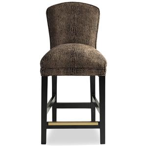 Jessica Charles Fine Upholstered Accents Hattie Memory Swivel Bar Stool