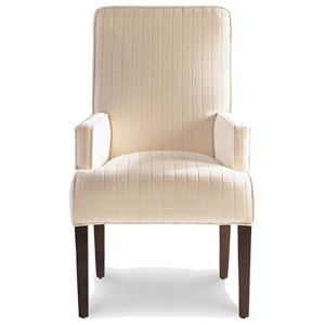 Jessica Charles Fine Upholstered Accents Lahaye Exposed Wood Arm Chair