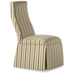 Jessica Charles Fine Upholstered Accents Lahaye Skirted Armless Chair