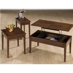 Jofran Boise Brown Cherry 3 Pack Table Set