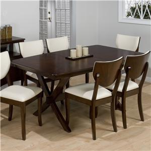Jofran Stain Walnut Rectangular Top Dining Table