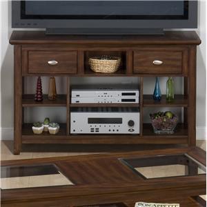 Jofran Bellingham Brown Media Unit w/ Shelves & 2 Drawers