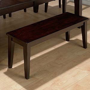 Jofran Dark Rustic Prairie Conventional Height Backless Bench
