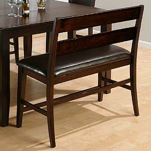 Jofran Dark Rustic Prairie Counter Height Bench