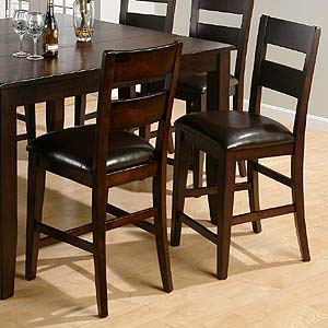 Jofran Dark Rustic Prairie Counter Stool