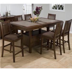 Jofran Caleb Brown Table and Stool Set