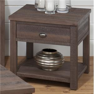 Jofran Falmouth Weathered Grey End Table