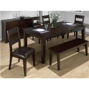 Jofran Dark Rustic Prairie 6-Piece Dining Set