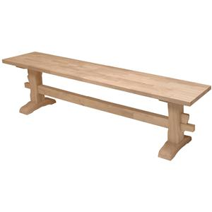 "John Thomas SELECT Dining 72"" Trestle Bench"