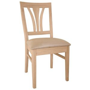 John Thomas SELECT Dining Fanback Chair with Seat Cushion