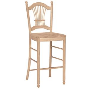 "John Thomas SELECT Dining 30"" Sheafback Stool"