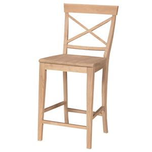 "John Thomas SELECT Dining 24"" X-Back Stool"
