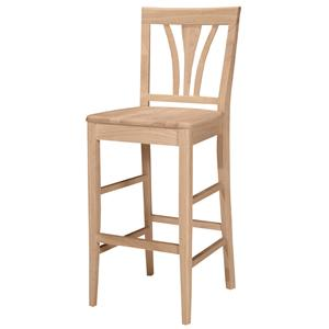 "John Thomas SELECT Dining 30"" Fanback Stool"