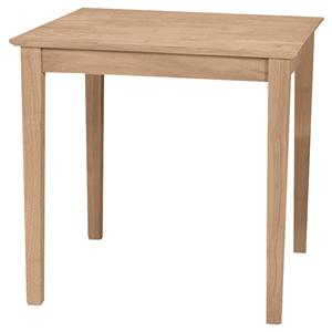 John Thomas SELECT Dining Square Solid Top Shaker Table
