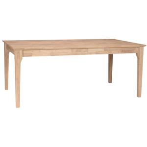 John Thomas SELECT Dining Solid Top Mission Table