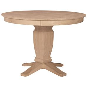 "John Thomas SELECT Dining 52"" Round Gathering Height Pedestal Table"
