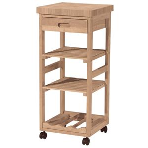 John Thomas SELECT Dining 3-Shelf 1-Drawer Trolley Cart
