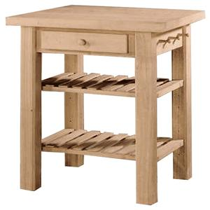 John Thomas SELECT Dining 2-Shelf 1-Drawer Kitchen Island