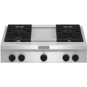 "KitchenAid Gas Cooktops 36"" Built-In Gas Cooktop"