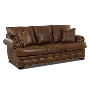 Klaussner Montezuma Leather Studio Sofa