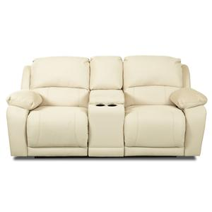Klaussner Charmed Console Reclining Loveseat