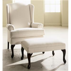 Klaussner Chairs and Accents Hereford Chair and Ottoman Set