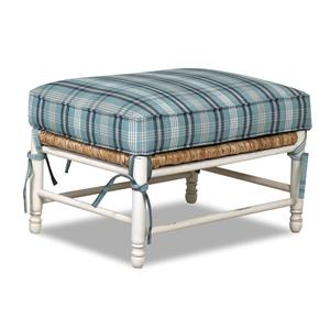 Klaussner Chairs and Accents Homespun Accent Ottoman