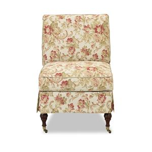 Klaussner Chairs and Accents Clara Accent Chair with Casters