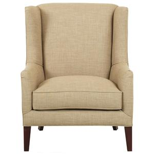 Klaussner Chairs and Accents Upholstered Quinn Chair with Wings