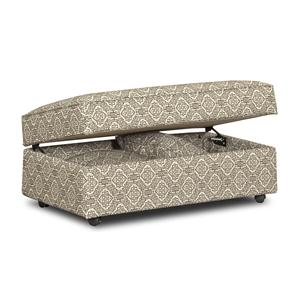Klaussner Chairs and Accents Stella Storage Accent Ottoman