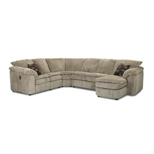 Klaussner Legacy LA Reclining Loveseat and Chaise Sectional