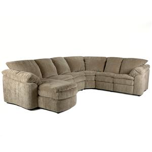 Klaussner Legacy RA Reclining Loveseat and Chaise Sectional