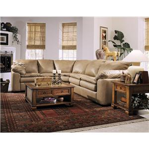 Klaussner Legacy Left Arm Loveseat and Sleeper Sectional